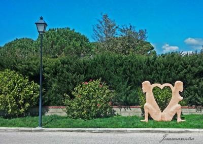 Escultura Móvil Amantes Desnudos2-Jesusmasantra