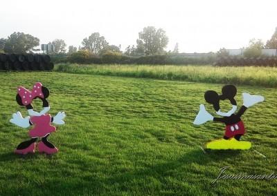 Escultura Móvil Mickey-Minnie Mouse-Jesusmasantra