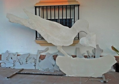 Escultura Móvil Pájaro-Jesusmasantra