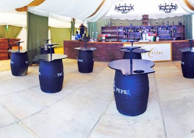 Mesas bota de vino Feria Casa Juan Carlos 2016 Jesusmasantra